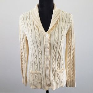 B2G1 Karen Scott Yellow Cable Knit Cardigan